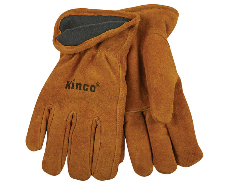 Split Cowhide Leather Gloves - Large