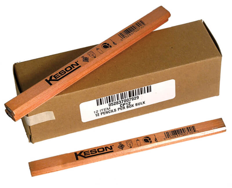 12 Piece Carpenter Pencils - Bulk