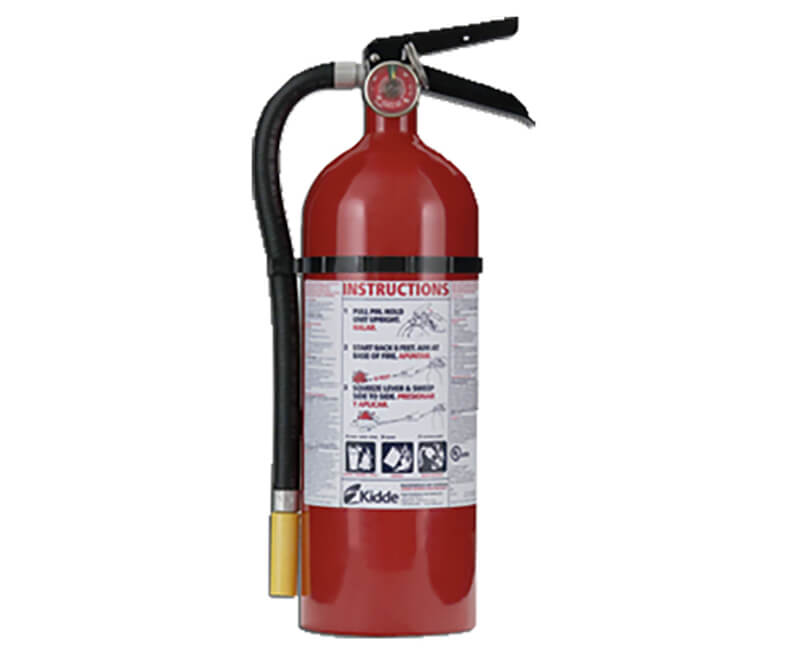 5 Lb. A-B-C Rated Fire Extinguisher With Metal Strap Bracket
