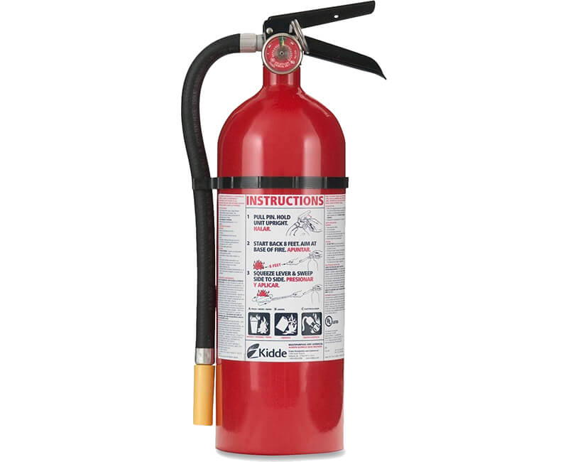 5 Lb. A-B-C Rated Fire Extinguisher With Metal Wall Hanger