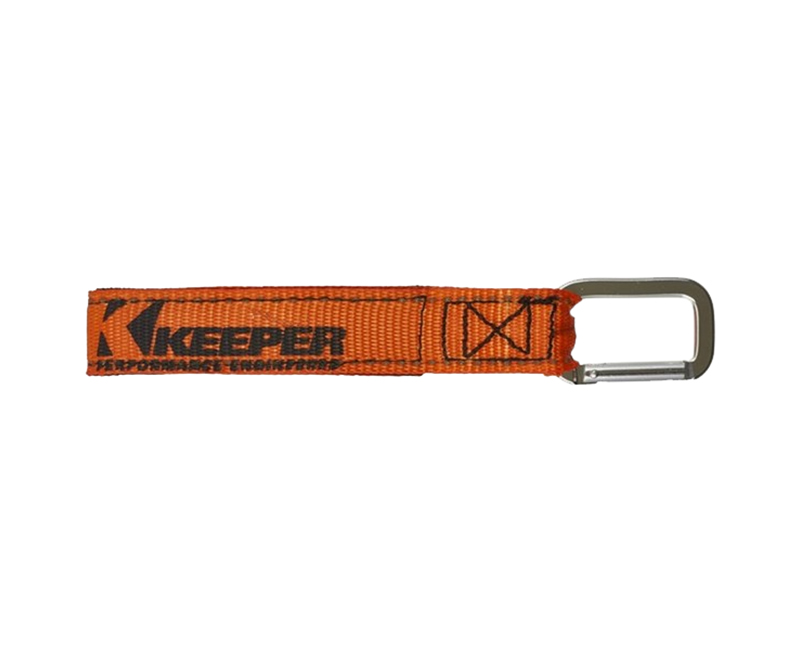 "20"" WRAP IT UP, HOOK & LOOP, CARABINER STRAP, ORANGE W/REFLECTIVE MARKERS, BIN DISPLAY"