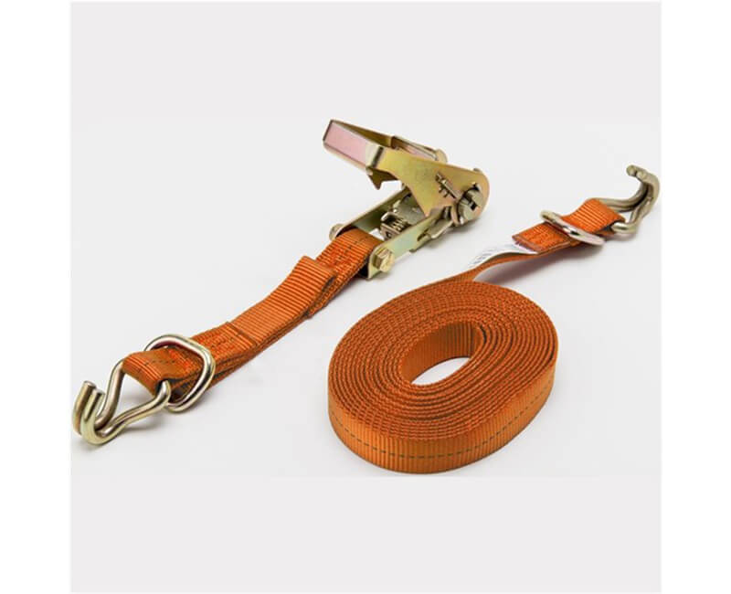 "16' X 1"" Ratchet Tie-Downs - Vinyl Coated Hooks"