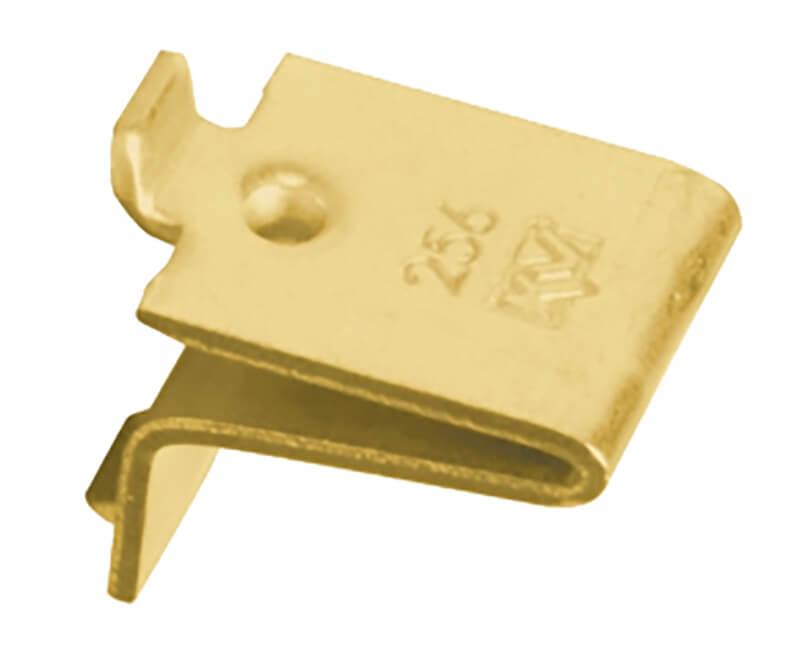 Bulk Pilaster Shelf Suppor Clips - Brass