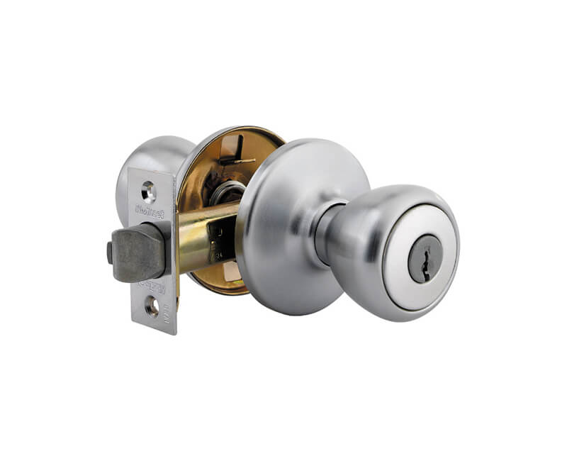 "Tylo Knob Entry Lockset - Clamshell 26D KA6 2-3/8"" Backset"