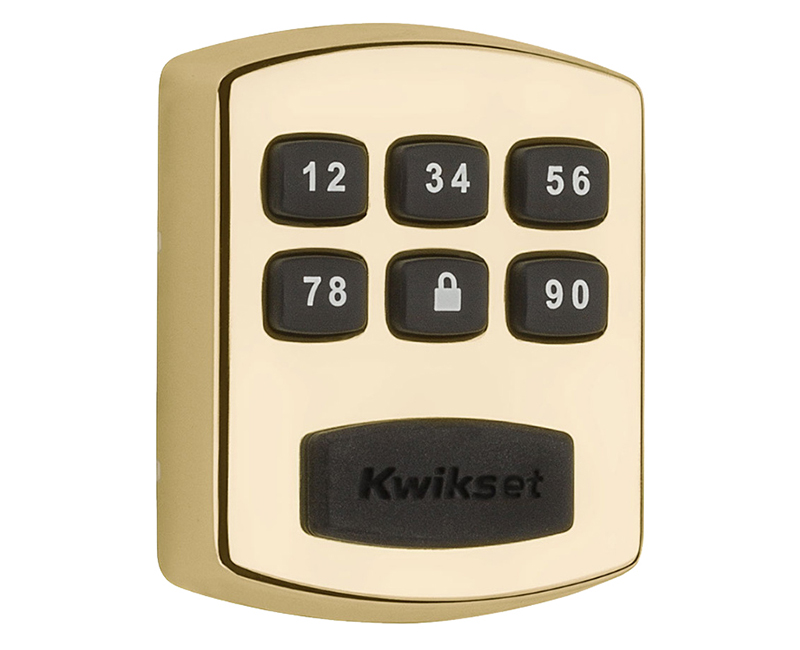 Smart Code Push Button Electronic Deadbolt Polished Brass