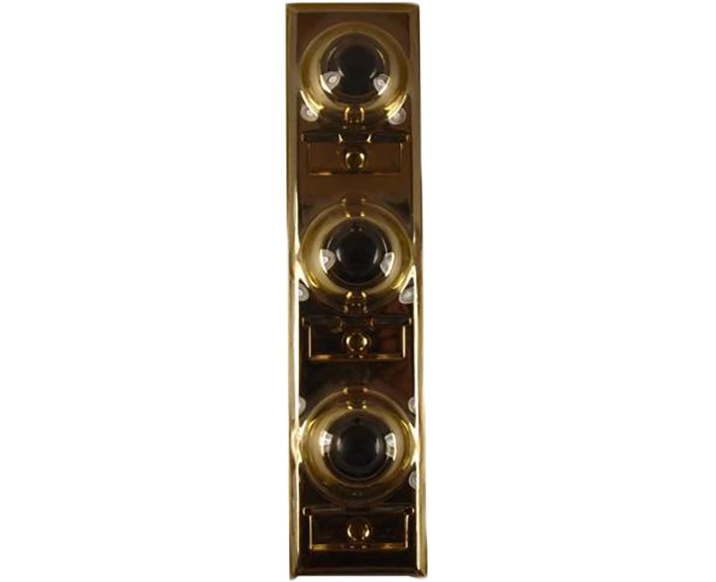 3 Gang Brass Push Button