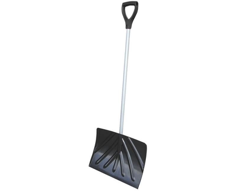 "18"" Poly Snow Shovel - D-Grip Steel Tube Handle"