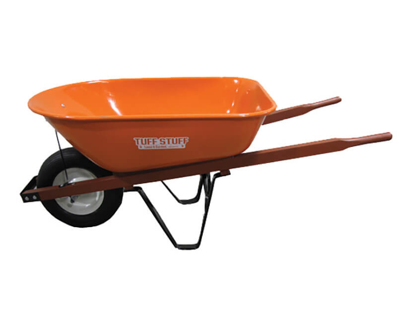 "16"" X 4"" Wheel Barrow - 6 Cubic Ft. Orange Tray"