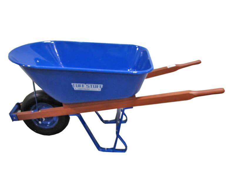 "16"" X 4"" Wheel Barrow - 6 Cubic Ft. Blue Tray"
