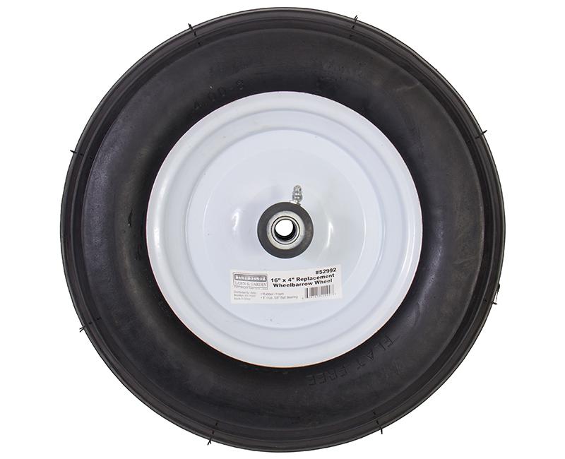 """16"""" X 4"""" Wheelbarrow Wheels - Rubber/Foam"""
