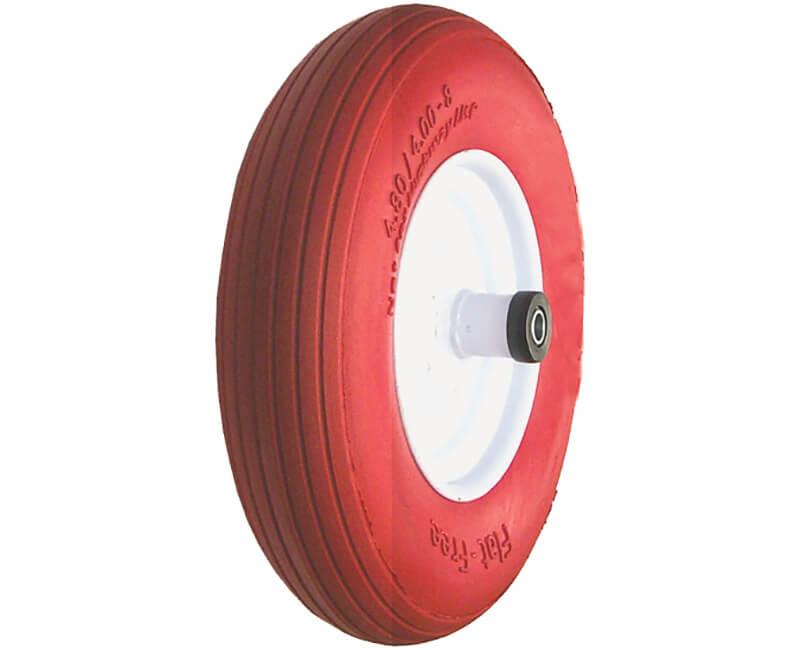 """16"""" X 4"""" Wheelbarrow Wheels - Flat Free Foam"""