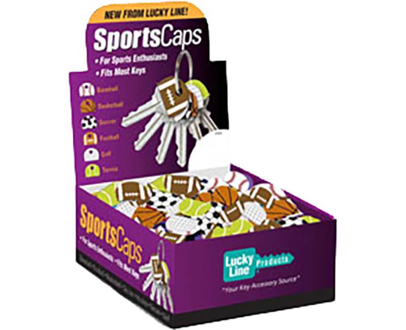Assorted Sports Key Caps - 200 Per Box