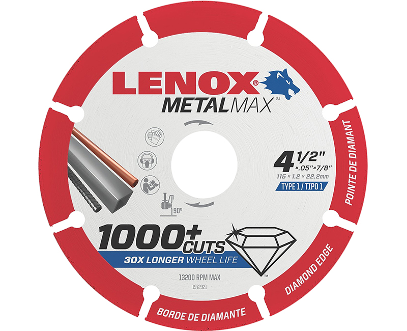"4-1/2"" x 7/8"" Metal Max Cutoff Wheel"