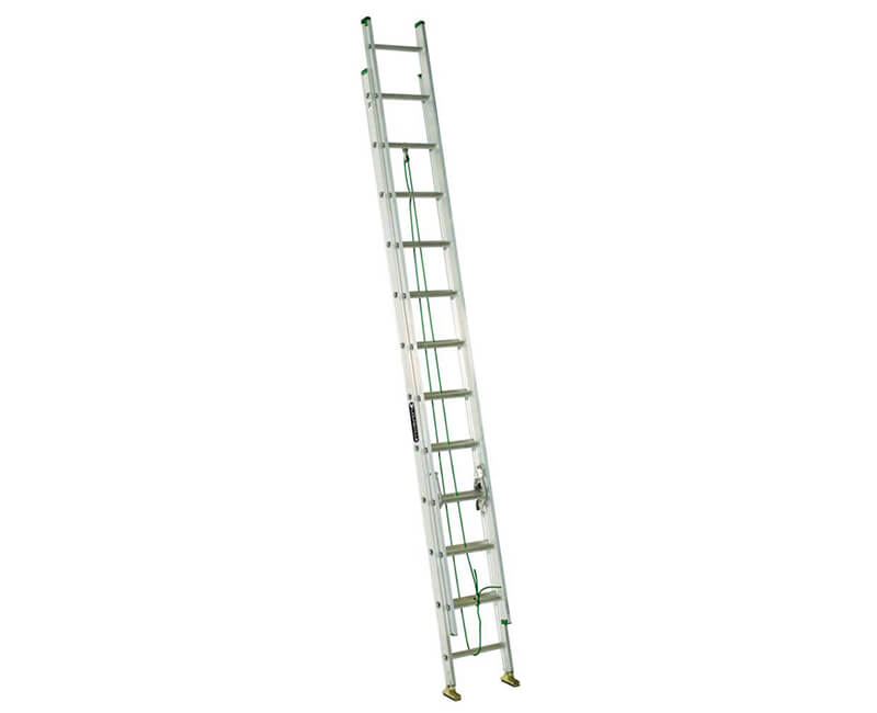 2 24' Aluminum Extension Ladder - 225 Lbs. Type 2