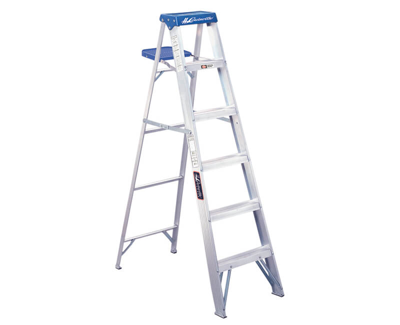 4' Aluminum Step Ladder With Pail - 250 Lbs. Type 1