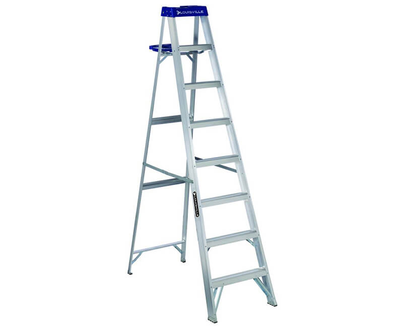 8' Aluminum Step Ladder With Pail - 250 Lbs. Type 1