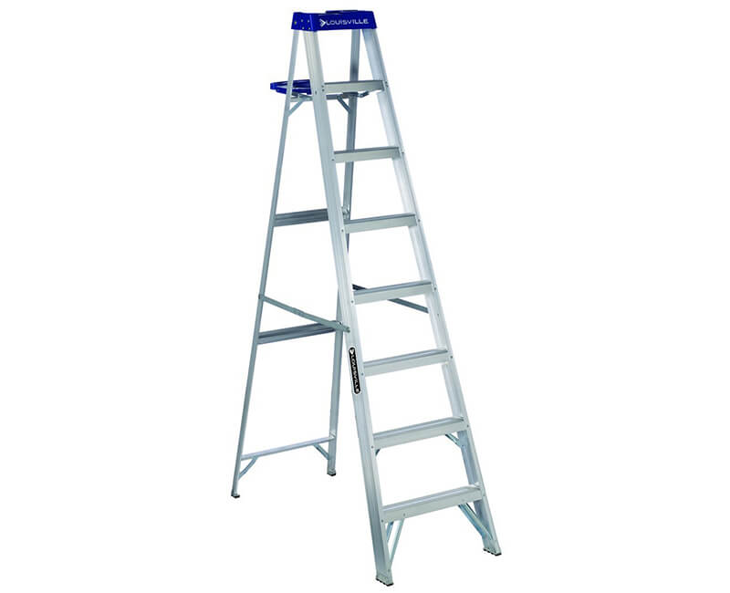 10' Aluminum Step Ladder With Pail - 250 Lbs. Type 1