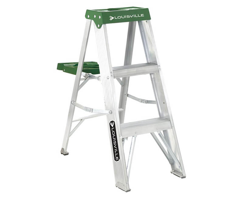 3' Aluminum Step Ladder With Pail - 225 Lbs. Type 2