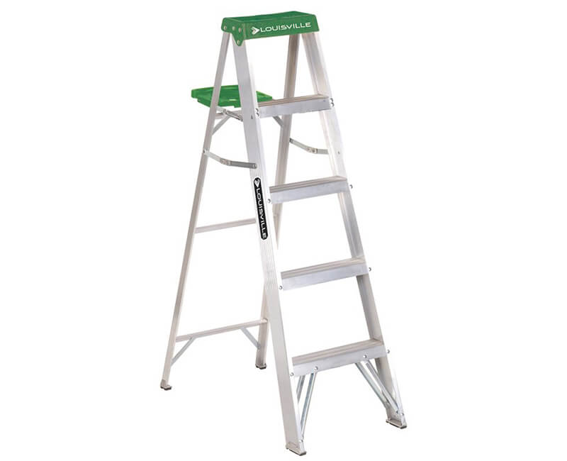 5' Aluminum Step Ladder With Pail - 225 Lbs. Type 2