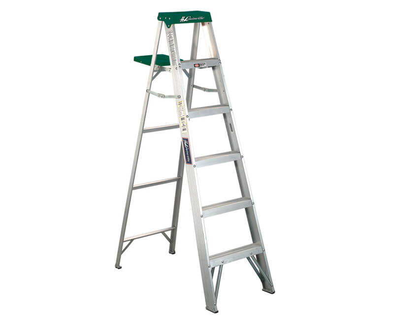 6' Aluminum Step Ladder With Pail - 225 Lbs. Type 2