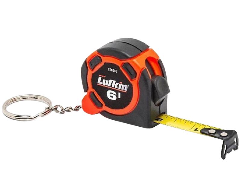 """1/2"""" x 6' Hi-Vis Orange Mini Tape Measure - 25 Ea. Cookie JAr"""