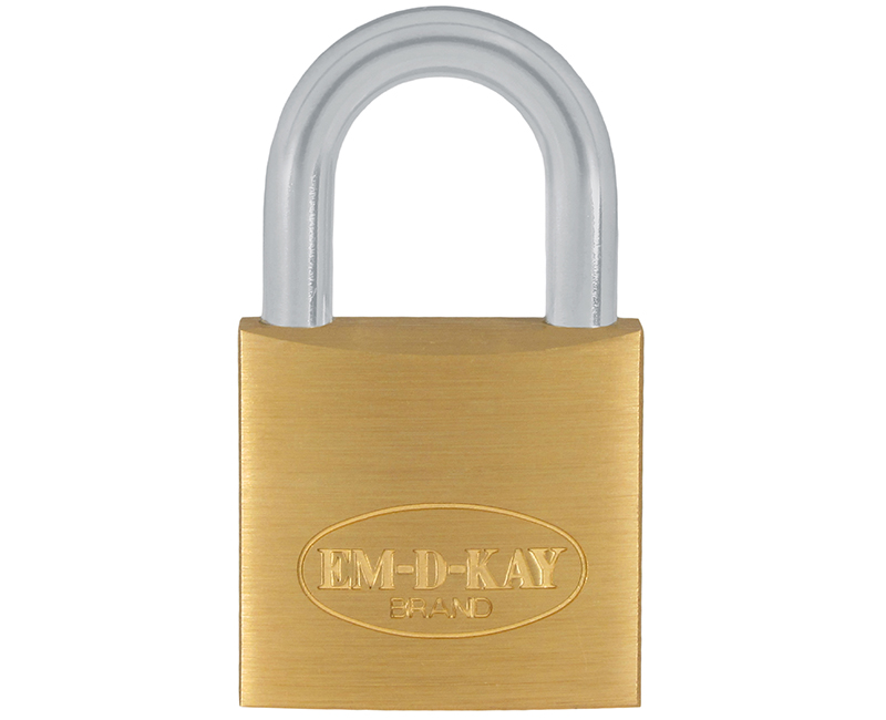 "3/4"" Body 1/2"" Shackle Solid Brass Padlock - Keyed 110"