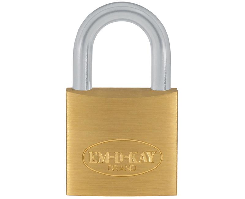 "3/4"" Body 1/2"" Shackle Solid Brass Padlock - Keyed 111"