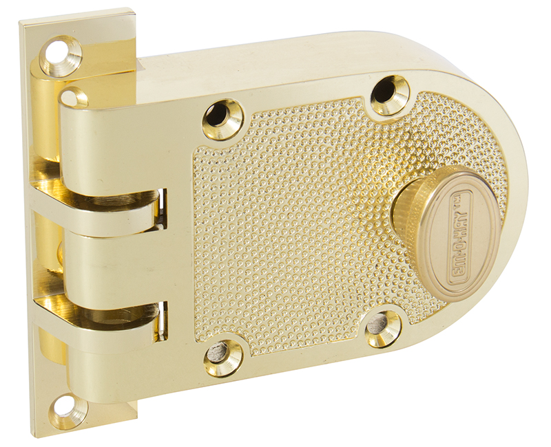 Single Cylinder Jimmyproof Deadlock - Polished Brass