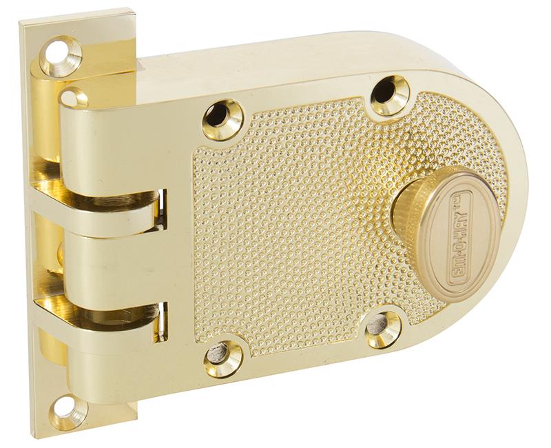 Single Cylinder Jimmyproof Deadlock - Polished Brass