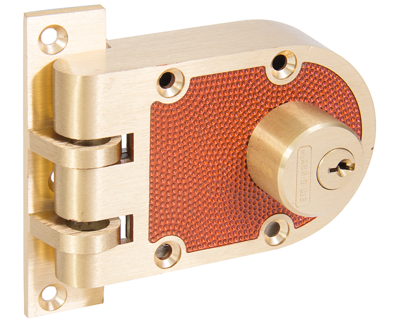 Double Cylinder Jimmyproof Deadlock - Bronze Finish