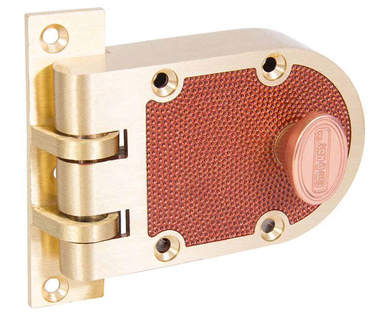 Single Cylinder Jimmyproof Deadlock - Bronze Finish