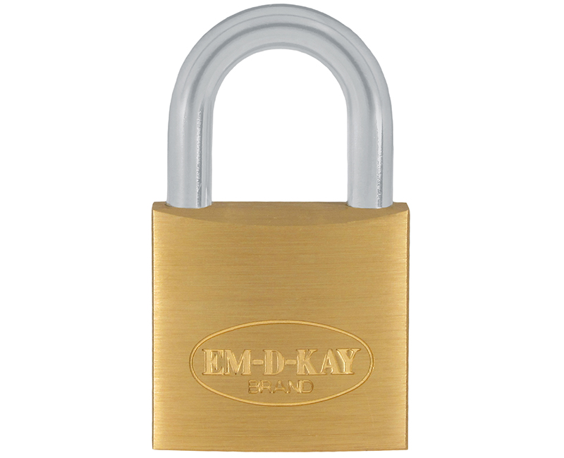 "3/4"" Body 1/2"" Shackle Solid Brass Padlock - Keyed Different"