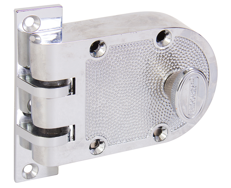 Single Cylinder Jimmyproof Deadlock - Polished Chrome