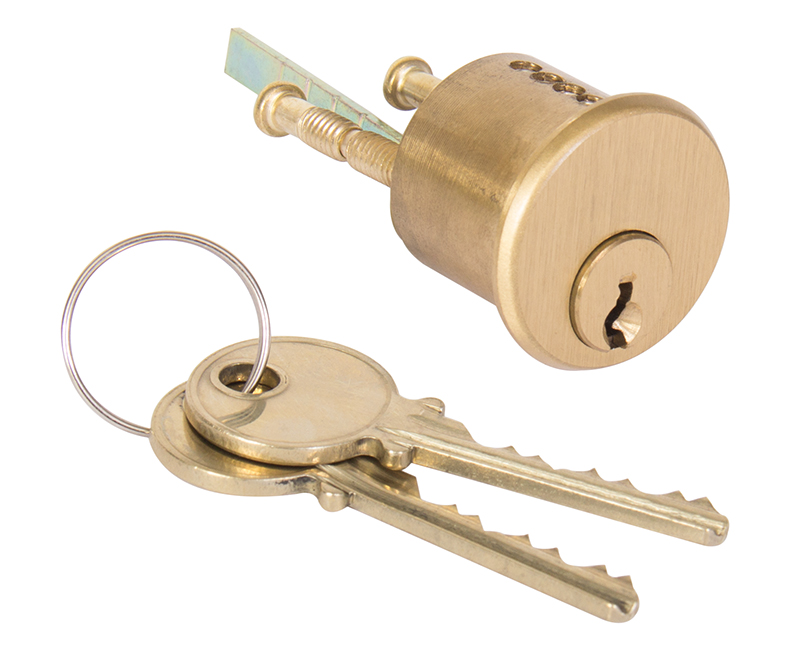 High Security Rim Cylinder With 2 Angle Cut Keys