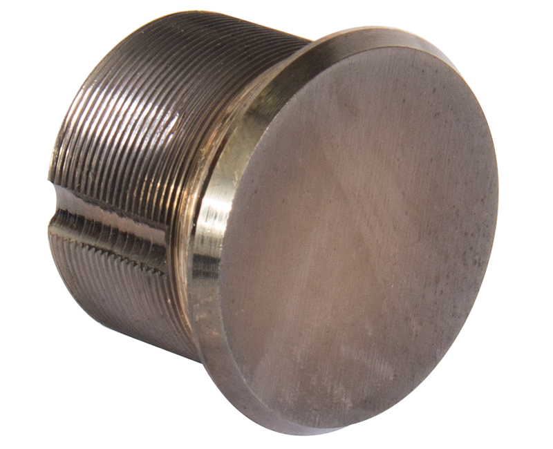 "15/16"" Solid Brass Dummy Mortise Cylinder - Duro"