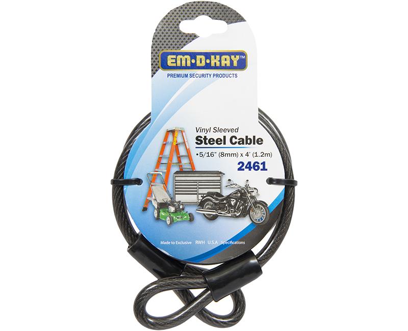 4' Vinyl Sleeved Steel Cable