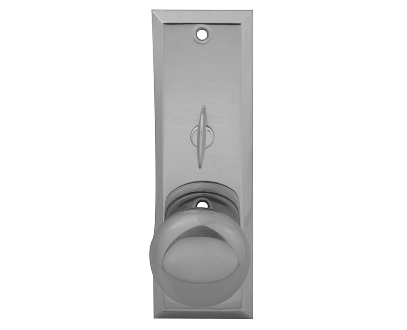 Escutcheon Plate With Solid Brass Door Knob and Zinc Alloy Turner