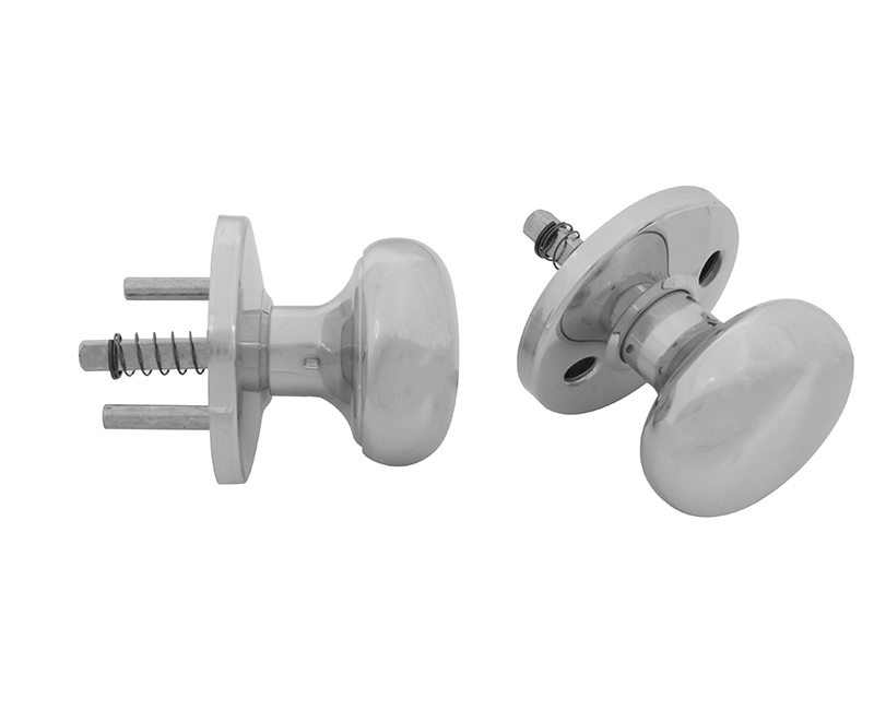 Solid Brass Knob and Rosette Assembly Kit