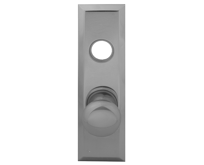 Escutcheon Plate With Solid Brass Door Knob and Cylinder Hole