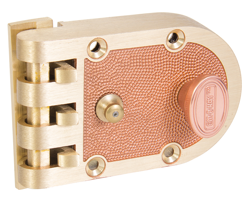 Jimmyproof Slamlock With Flat Strike - Bronze