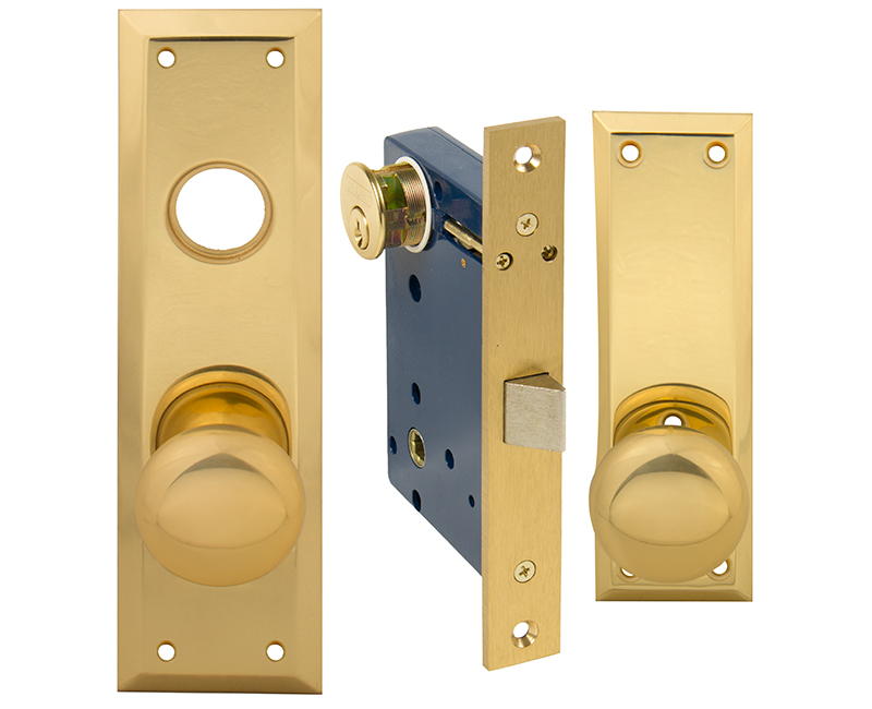 Vestibule Mortise Lockset - Left Hand US3