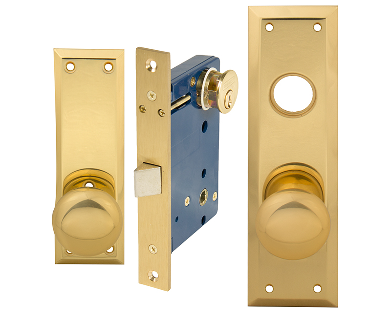 Vestibule Mortise Lockset - Right Hand US3