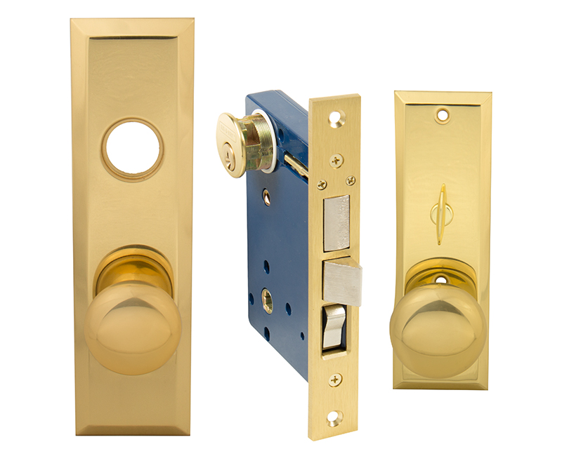 Thru Bolted Left Hand Mortise Lockset