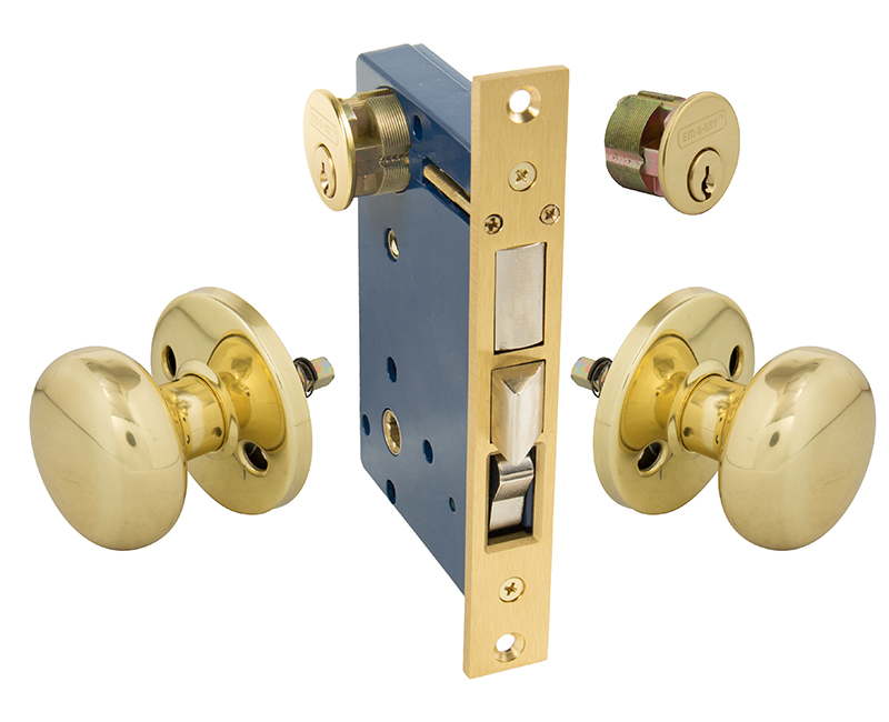 Iron Gate and Rosette For Double Cylinder Left Hand Mortise Lockset