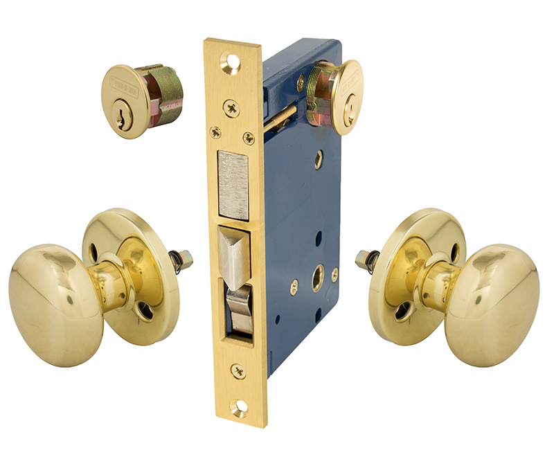 Iron Gate and Rosette For Double Cylinder Right Hand Mortise Lockset