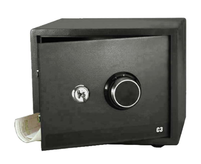 Security Safe With Dial Combo and Cross Key - Medium