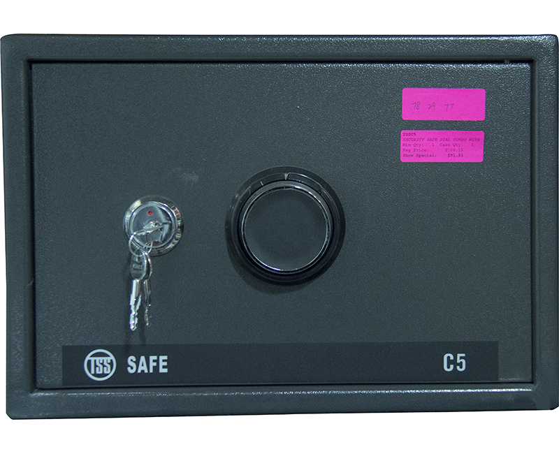 Security Safe With Dial Combo and Cross Key - Large