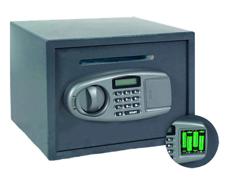 Security Safe With Lighted Display and Envelope Slot