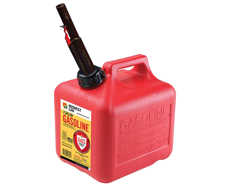 Auto Shut Off Gasoline Can - 2 Gallon