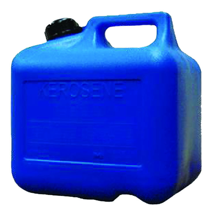 2 Gallon Plastic Kerosene Can - Blue